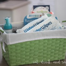 we love our water wipes for baby shower gifts