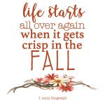 Happy Fall! + Free Fall Printable Quote