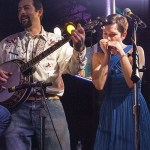 Matt Gennuso on banjo and Kristin Gennuso on harmonica