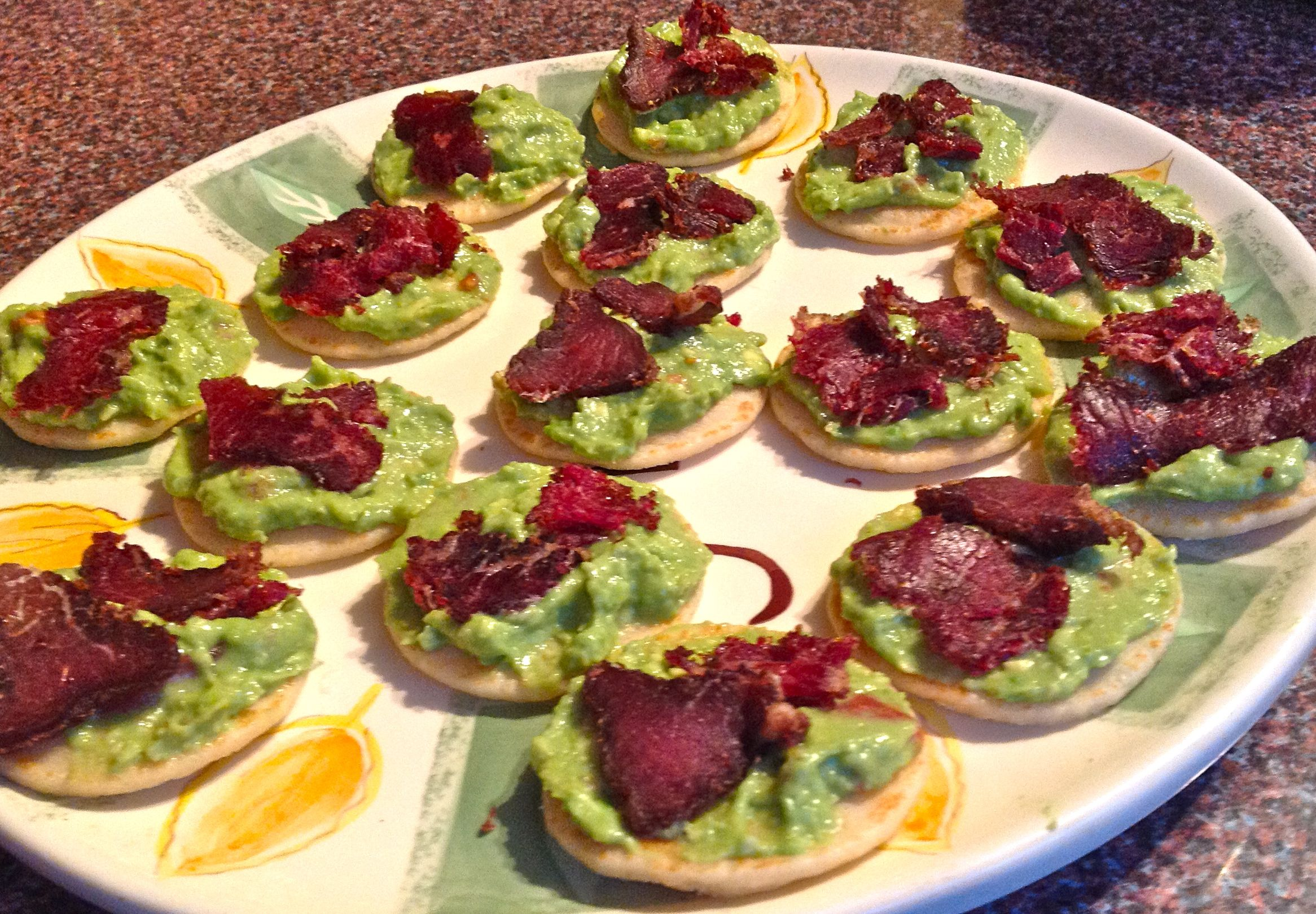 the cook with biltong club biltong and guacamole blinis eating covent garden. Black Bedroom Furniture Sets. Home Design Ideas