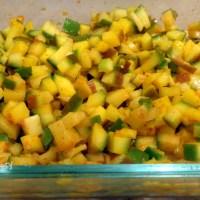 Indian mango pickle without oil (Vendhaya manga)