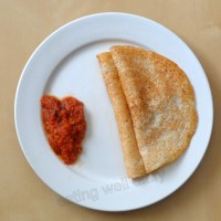 brown rice and lentil crepes (dosa)