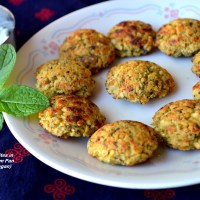 Minty Falafel Bites in Appe/Paniyaram Pan for Diabetes Friendly Thursdays
