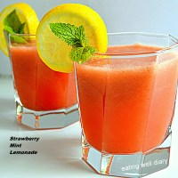 Strawberry Mint Lemonade for Diabetes Free Thursdays