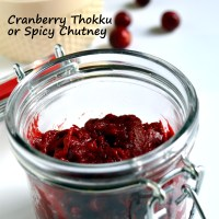 Finger-licking Cranberry Thokku, a Versatile Chutney