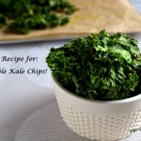 Easy Kale Chips Made in a Low Temperature Oven- A Meatless Monday And Fiesta Friday Recipe