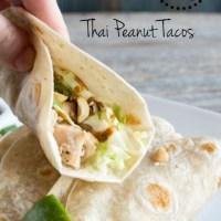Thai Peanut Tacos- Monthly Ingredient Challenge