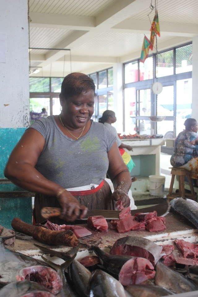 The fish market, Grenada