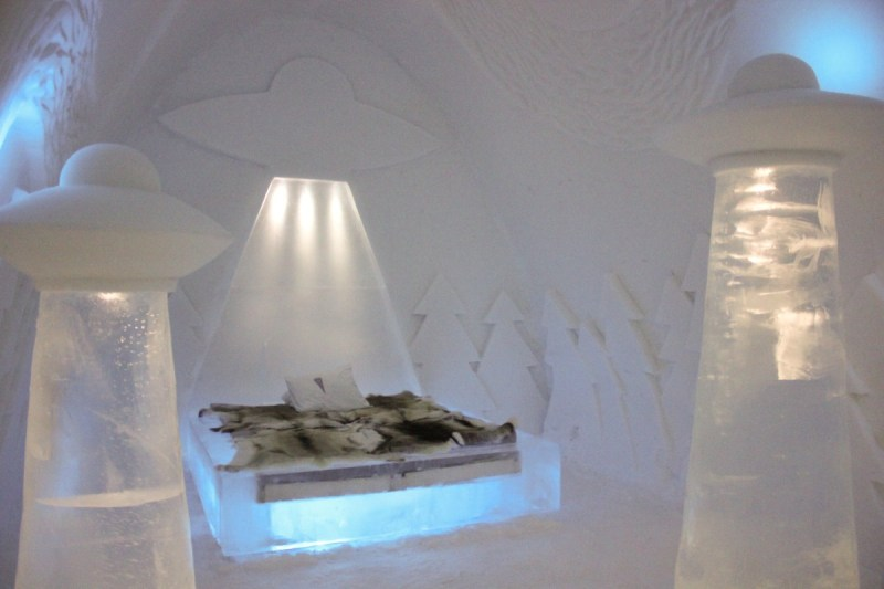 ICEHOTEL, Swedish Lapland - Fabulous Art Suite full of UFOs