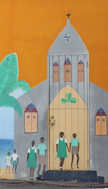 Mural at the Catholic church / school
