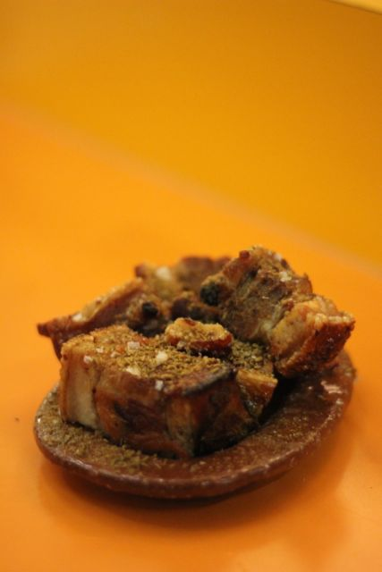 Chicharrones de cádiz – pork belly, cumin & lemon
