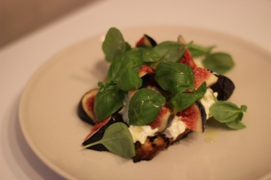 Basil Burrata Fig & Toast