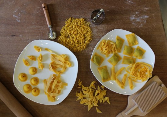 Hand rolled pasta selection