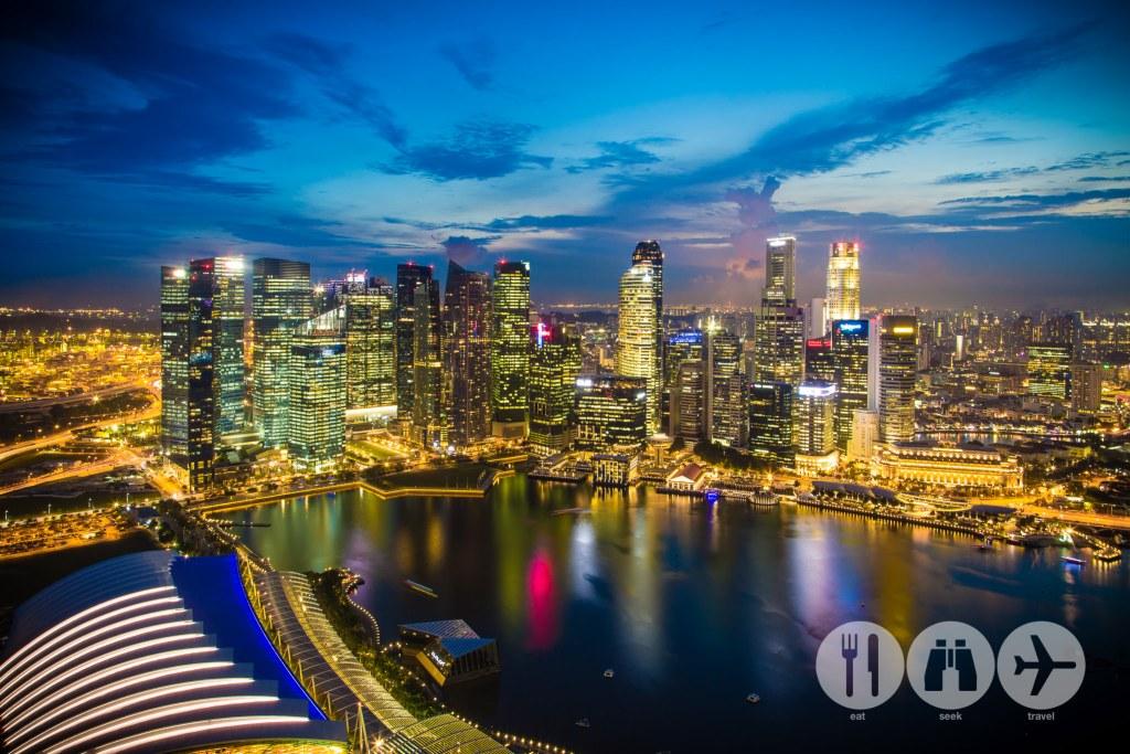 Sunset from Skypark, Marina Bay Sands