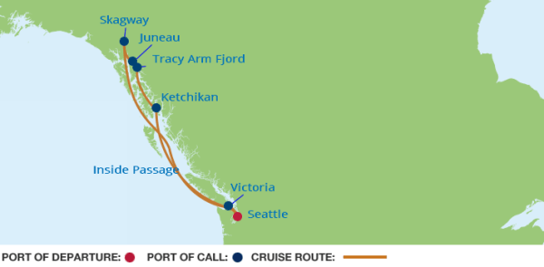 Celebrity Solstice Inside Passage Alaska Itinerary Cruise
