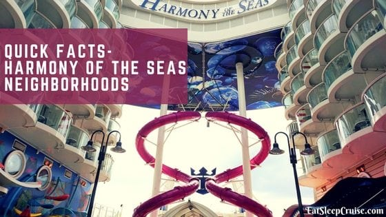 Quick Facts – Harmony of the Seas Neighborhoods