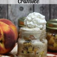 Mason Jar Peach Crumble
