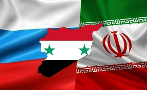 RUSSIA SYRIA IRAN FLAGS