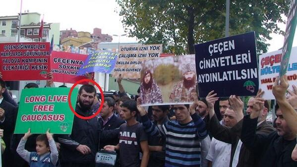 Sayfullakh in Istanbul and a pro-Chechen rally before he came to Syria