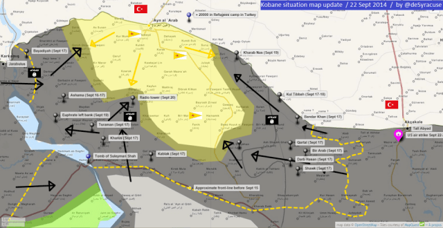 ISIS ADVANCE KOBANE