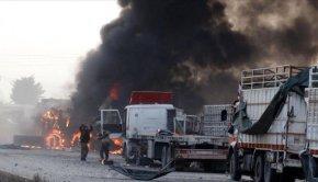 SYRIA TRUCKS RUSSIA STRIKE