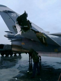 RUSSIA WARPLANE DAMAGED 12-17 1