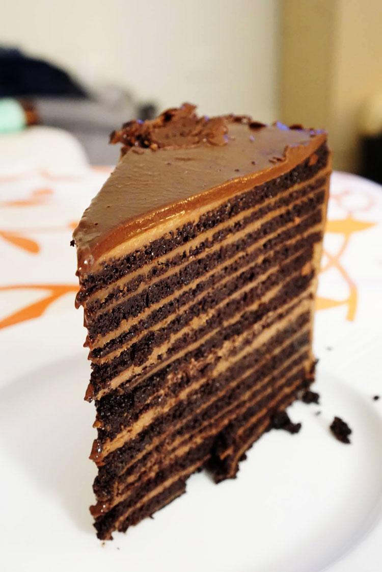 Chocolate cake, chops restaurant at El Conquistador Resort Puerto Rico