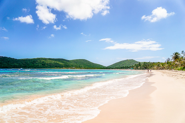 Flamenco beach in Culebra Puerto Rico
