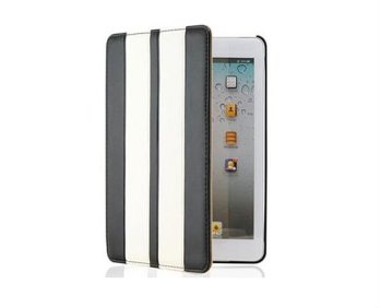 New Pilot Design Black And White Stripes Folio iPad Mini Case