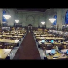 Video thumbnail for youtube video Flying a drone inside the New York Public Library (video)