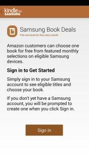 Kindle for Samsung - Book Deals sign up