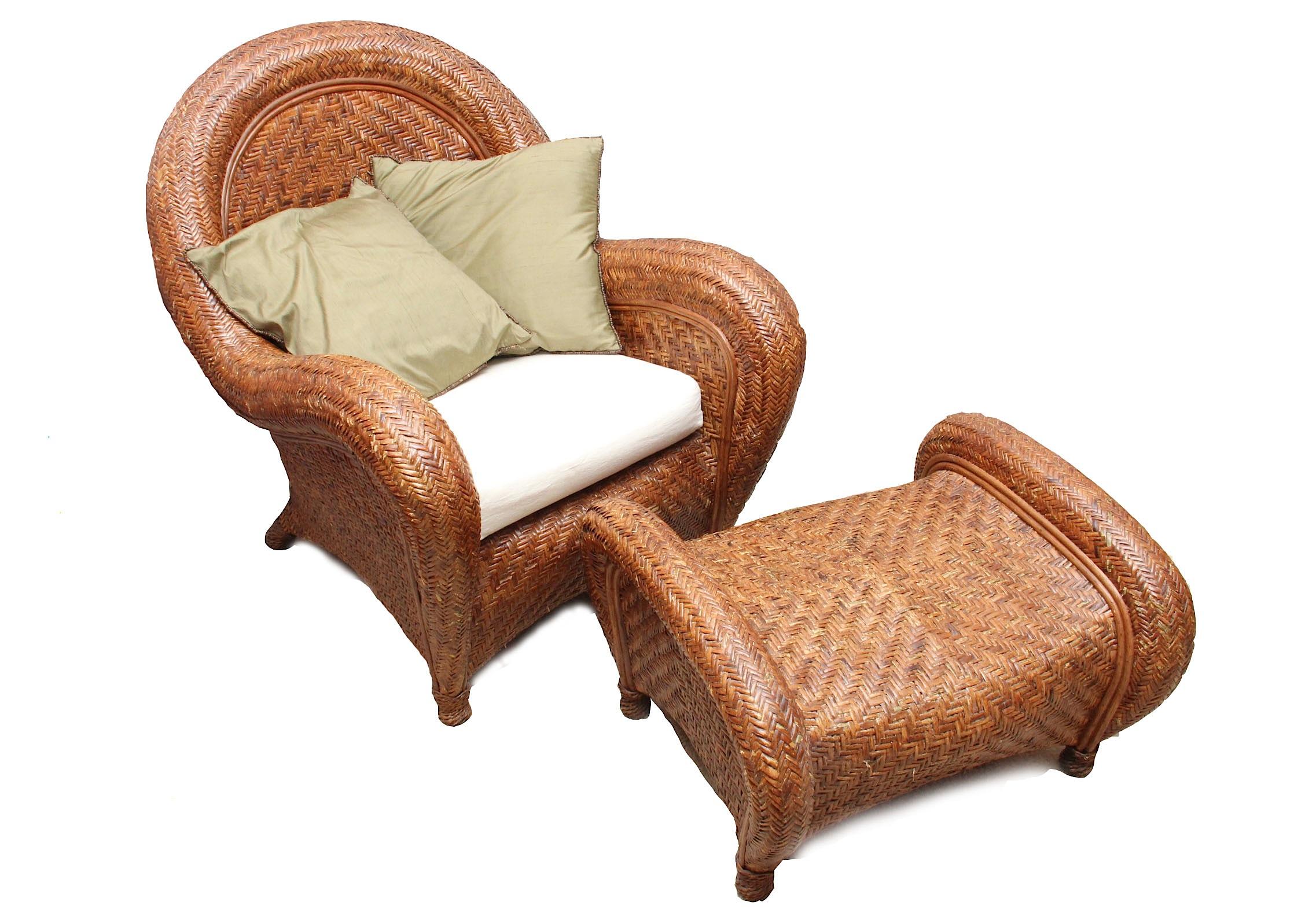 Pottery Barn Rattan  Pottery Barn Rattan Chair L45