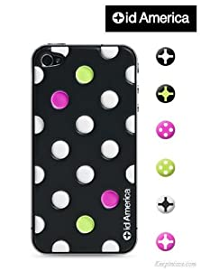 id America iPhone4S/4用3D保護シール Cushi Dot / ID America.