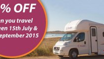 20% off motorhome rental this winter