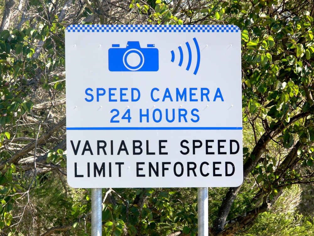 Campervan Hire Australia - Speeding sign