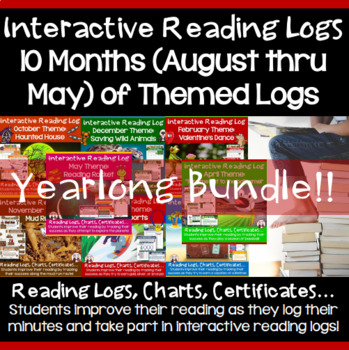 Back to School Bundle Activities: Reading Logs for Year