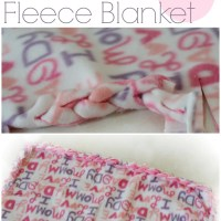 No Sew Braided Fleece Blanket