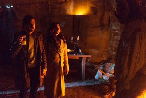 """THE MAGICIANS -- """"Have You Brought Me Little Cakes"""" Episode 113 -- Pictured: (l-r) Jason Ralph as Quentin, Stella Maeve as Julia -- (Photo by: Jeff Weddell/Syfy)"""