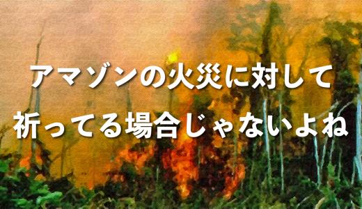 アマゾン火災に対して「祈ってる場合かよ!」