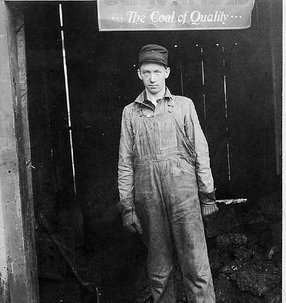 A coal miner ready for work.