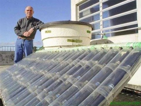 Calentador Agua Solar Botellas Plasticos Calentador solar gratis con botellas PET