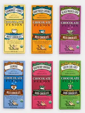 Fair Trade, organic, tea-infused chocolate