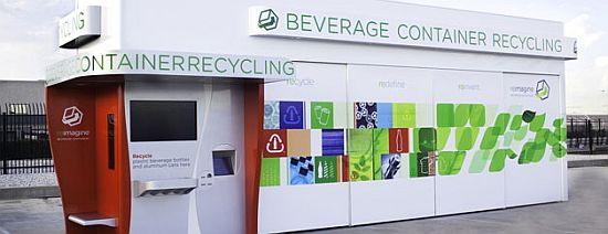 coca cola reimagine recycling machine