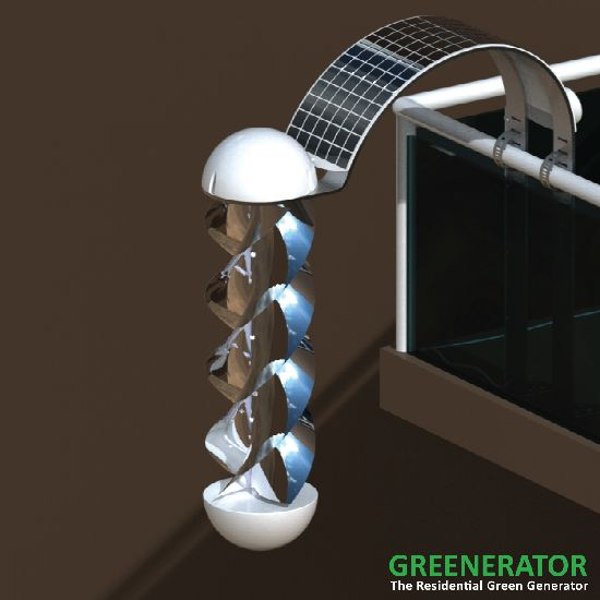 greenerator concept wind and solar energy generato