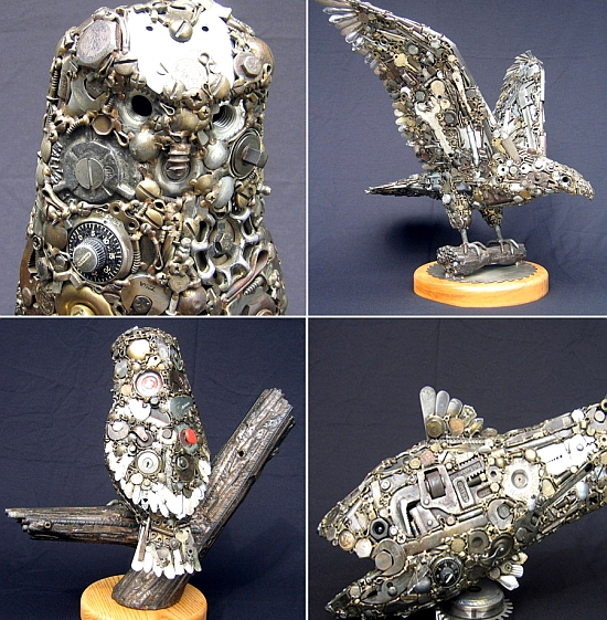 recycled animal sculptures 69