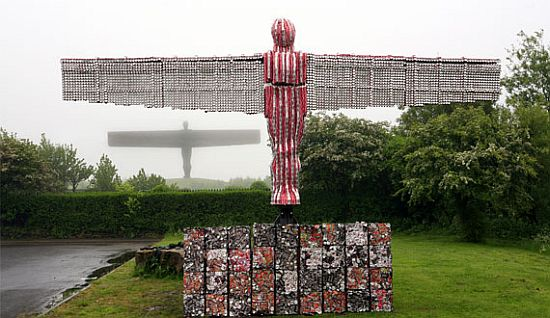 recycled coke cans sculptures