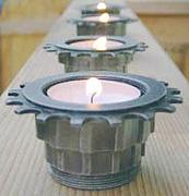 recycled tea light holder