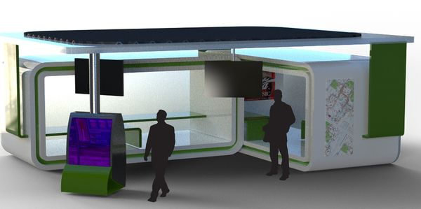Rubix bus shelter uses solar energy to power up
