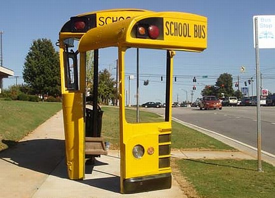 school bus shelter