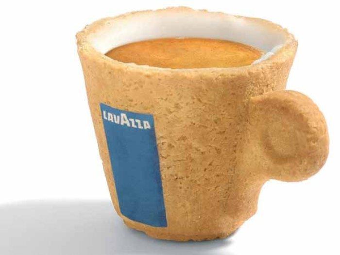 Taza de café comestible de galleta
